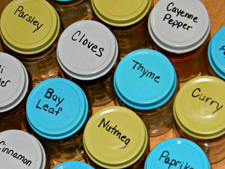 DIY Spice Jar Organizer