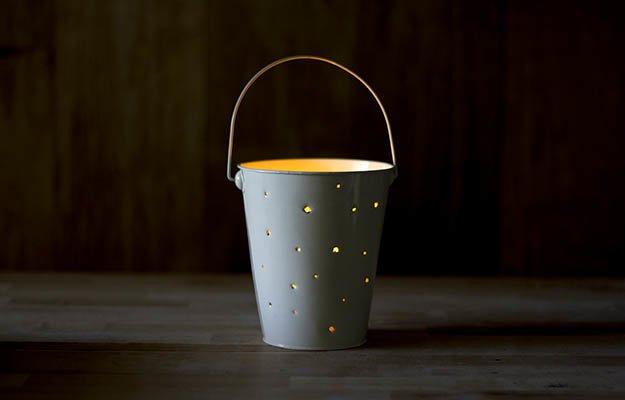 DIY Lantern using Tin buckets