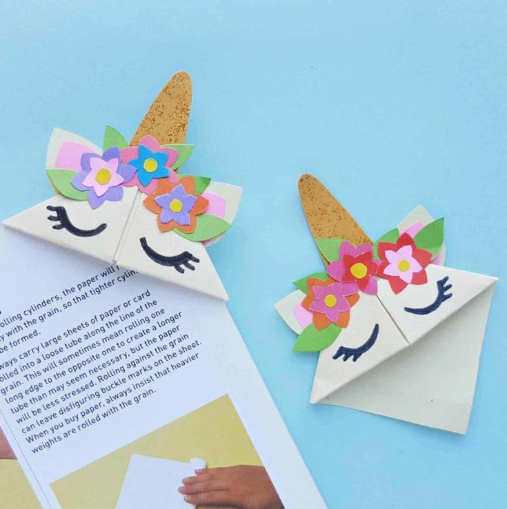 Easy DIY Unicorn Bookmark Craft For Kids