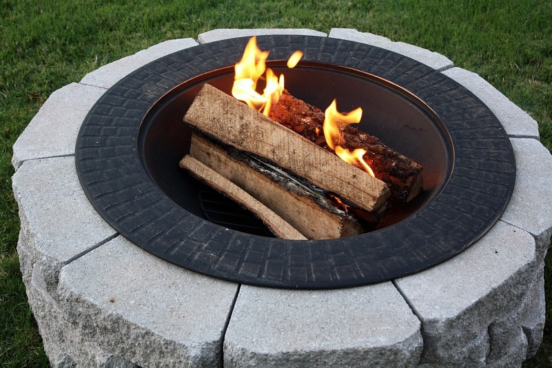 Clean and Lidded Decorative round fire pit