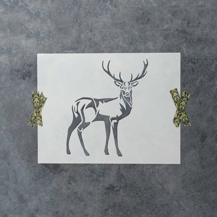 Deer Stencil Template - Reusable Stencil with Multiple Sizes Available