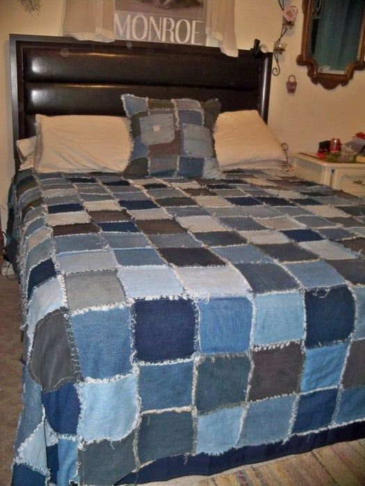 Denim Rag Quilt bedding