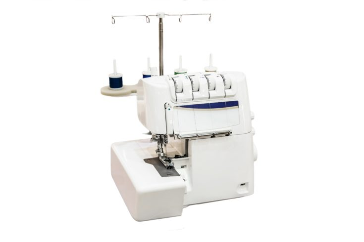 a Serger Sewing Machine isolated in white background