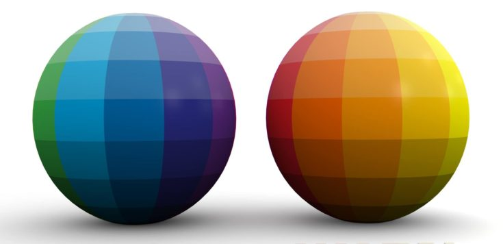Didactic Color Scheme: Cool & Warm Colors in 3D Sphere