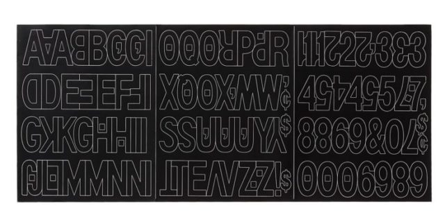 Duro Decal Vinyl Letters Black, 2 inches