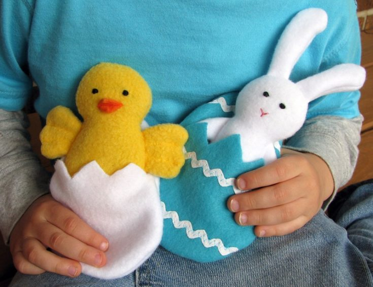 Chick + Bunny Softie Free Pattern