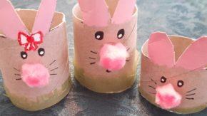 How To Make An Adorable Cardboard Tube Bunny Family
