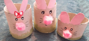 Cover Image: How To Make An Adorable Cardboard Tube Bunny Family