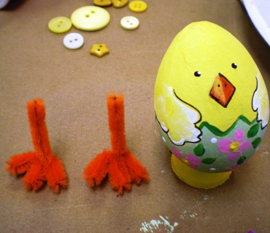 DIY project that uses paper mache eggs creating beautiful and playful placeholders.