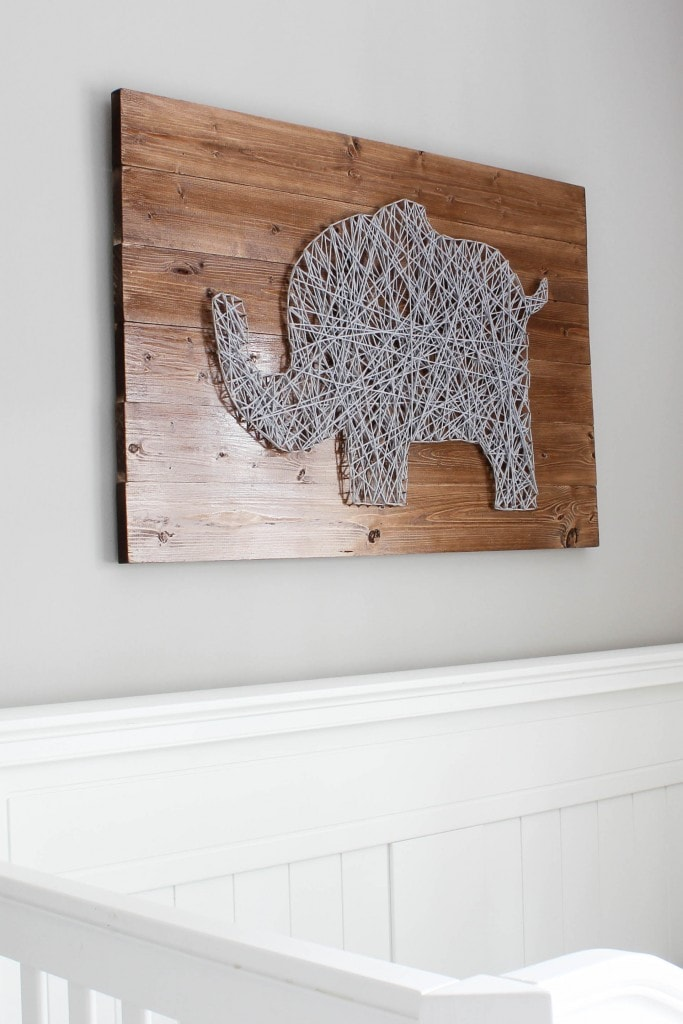 Elephant in the Room string art