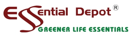 Essential Depot logo in white background.
