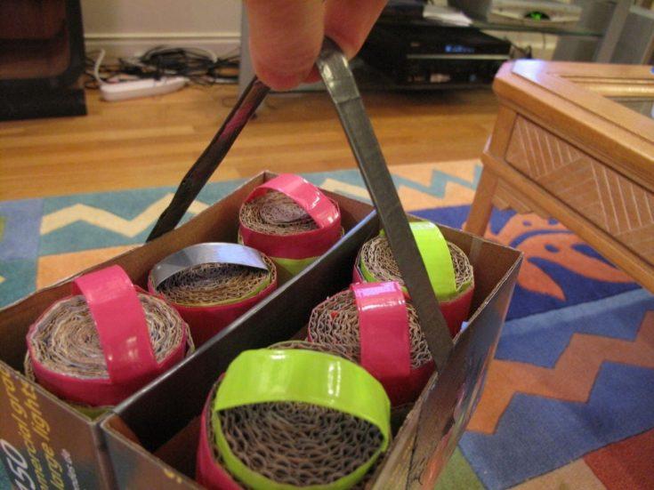 Upcycled craft using the shoebox basket or storage.
