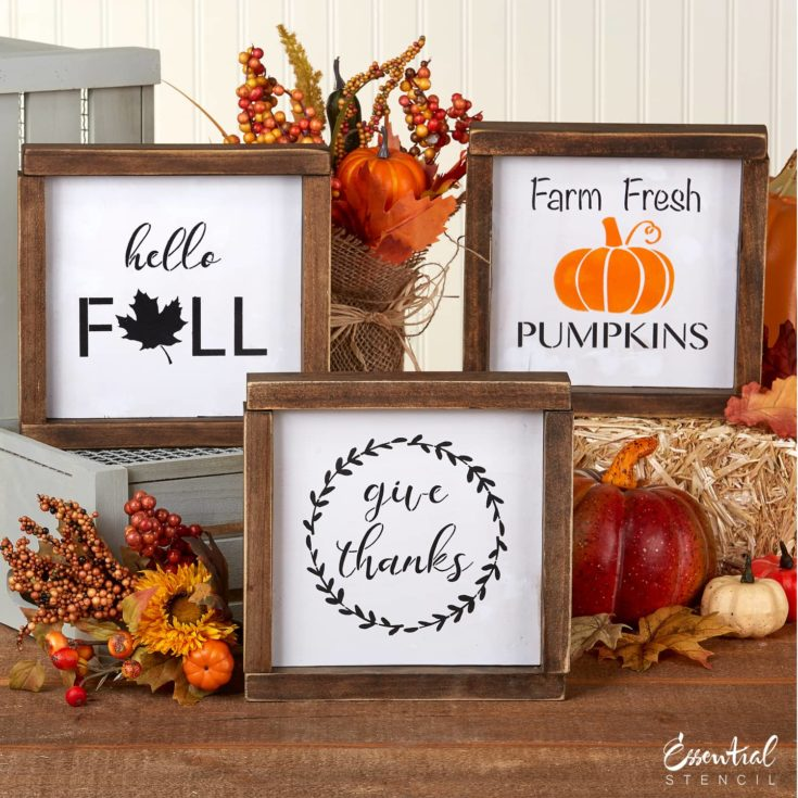 Fall Mini Sign Stencils (3 Pack)