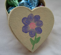 Fingerprint Box of Chocolate Kisses