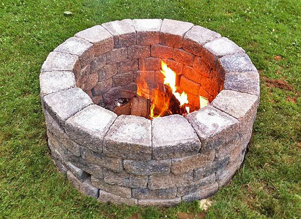 Deep and round 5 layered pit stone fire