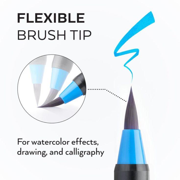 Flexible Brush Tip of Arteza Real Brush Pen