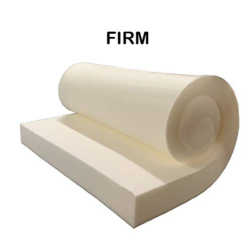 """GoTo Foam 6"""" Height x 24"""" Width x 72"""" Length 44ILD (Firm) Upholstery Cushion Made in USA"""