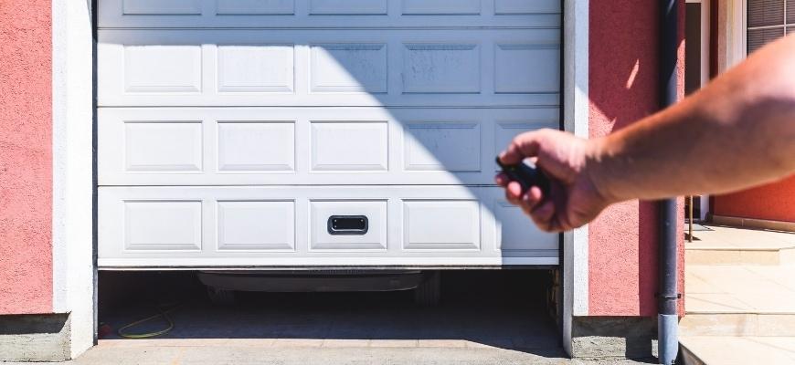 garage door pvc with remote controller