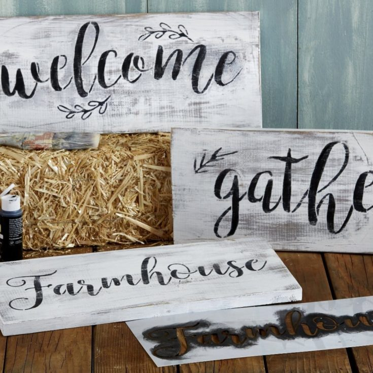 Gather, Welcome, Farmhouse Stencil Set