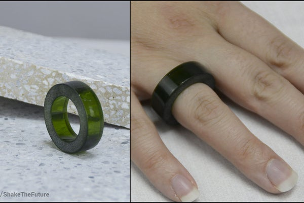 Glass Bottle Home Crafts - ring made from a cut bottle.