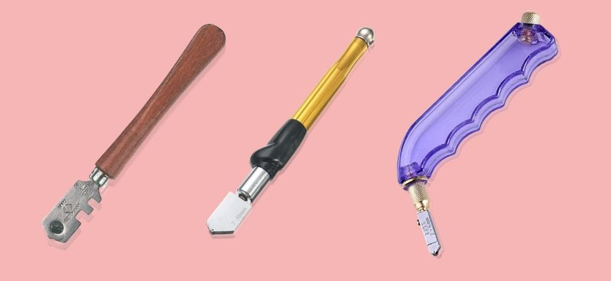 Glass Cutting Tools in pink background