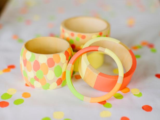 Hand-painted Wooden Bracelets