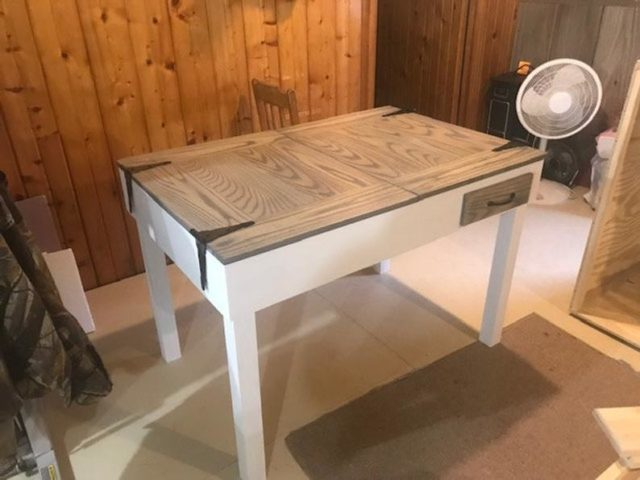 Hinged Work Surface Table