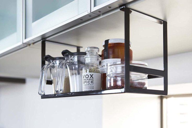 Hanging storage for kitchen spices