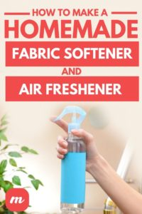 How To Make A Homemade Air Freshener And Fabric Softener