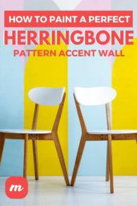 How To Paint A Perfect Herringbone Pattern Accent Wall