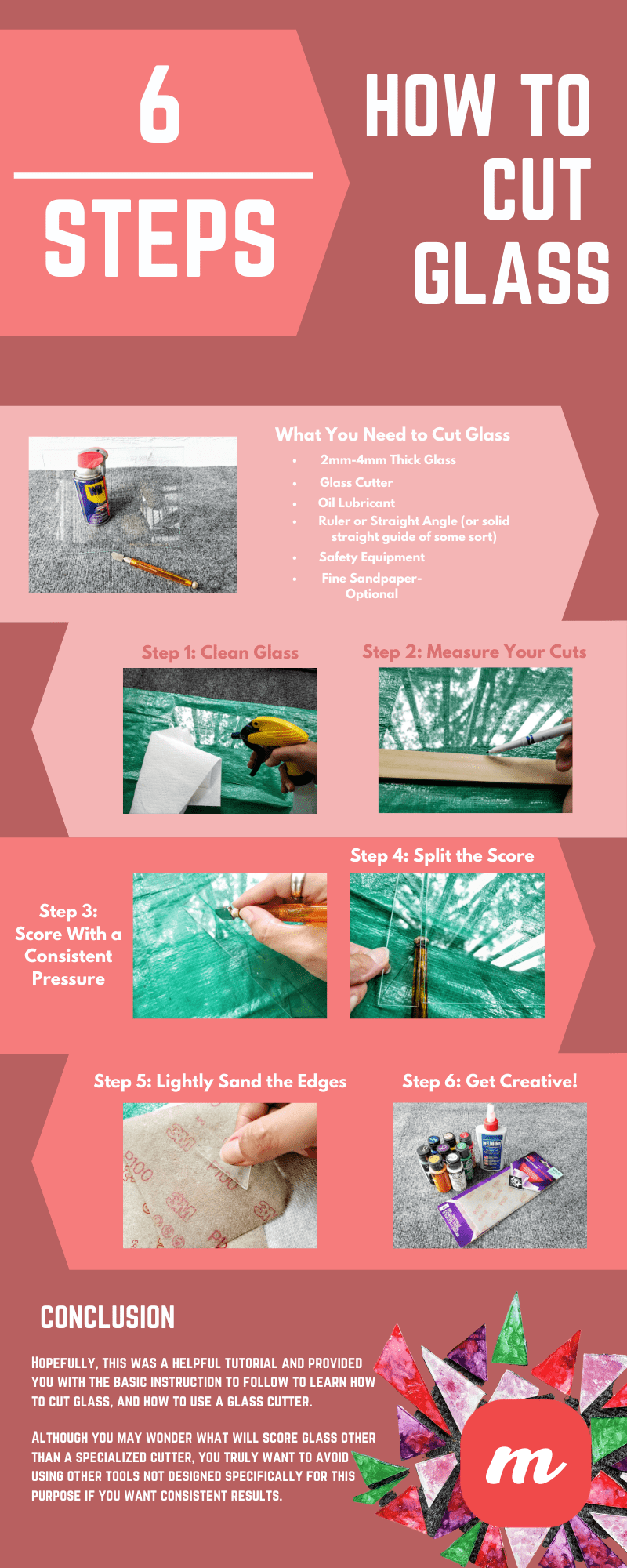 How to Cut Glass - Infographic