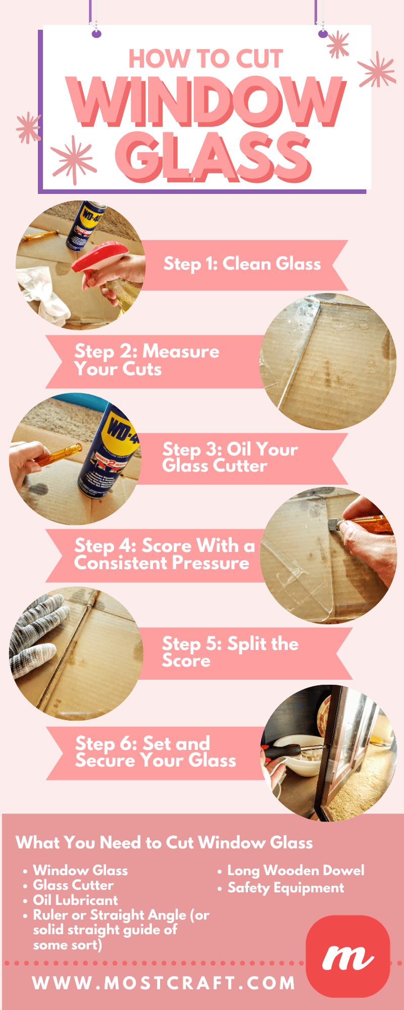 How to Cut Window Glass - Infographic
