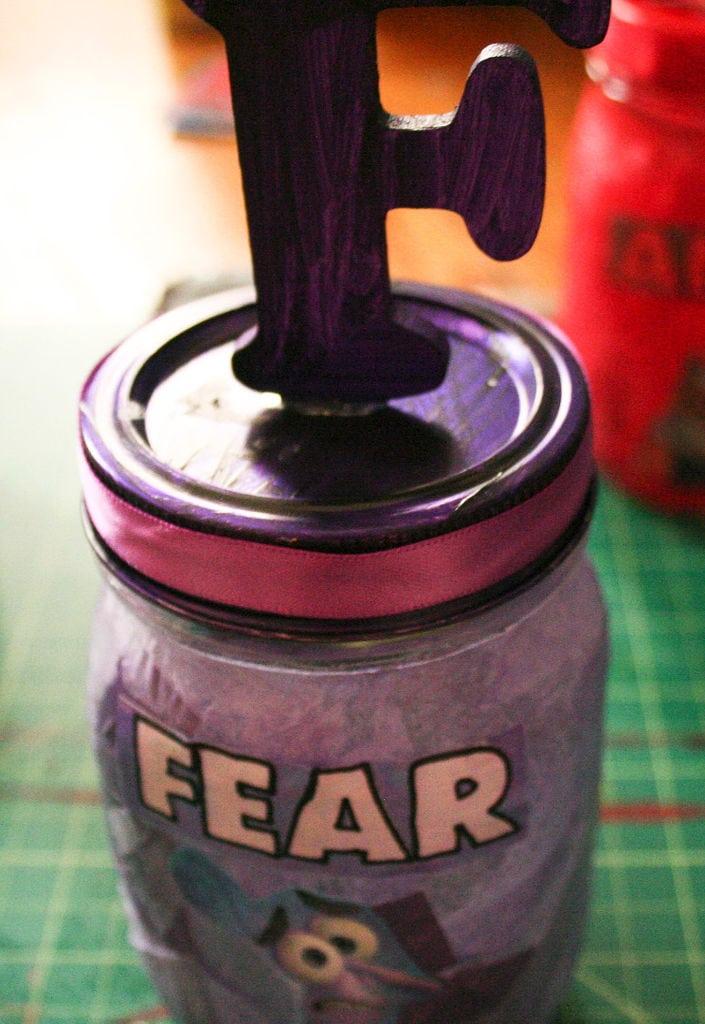 Inside Out Decoupage Jars