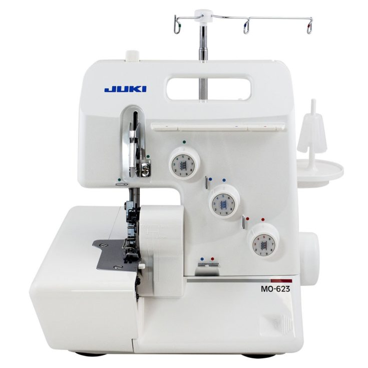 Juki 1-Needle, 3-Thread Overlock Machine MO-623 isolated in white background