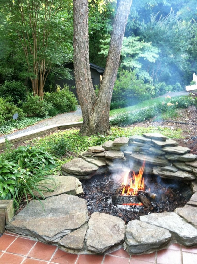 Koi Pond inspired Fire Pit