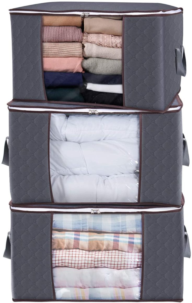 Large Capacity Storage Bag stacked on top of each other
