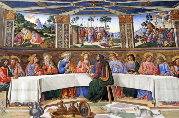 The Last Supper in Sistine Chapel, Vatican City