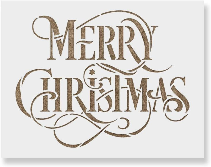Merry Christmas Stencil - Perfect Stencil for Painting Wood Signs