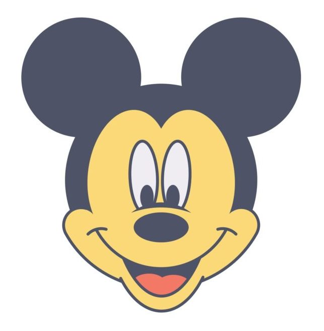Mickey Mouse Web icon vector illustration isolated in white background
