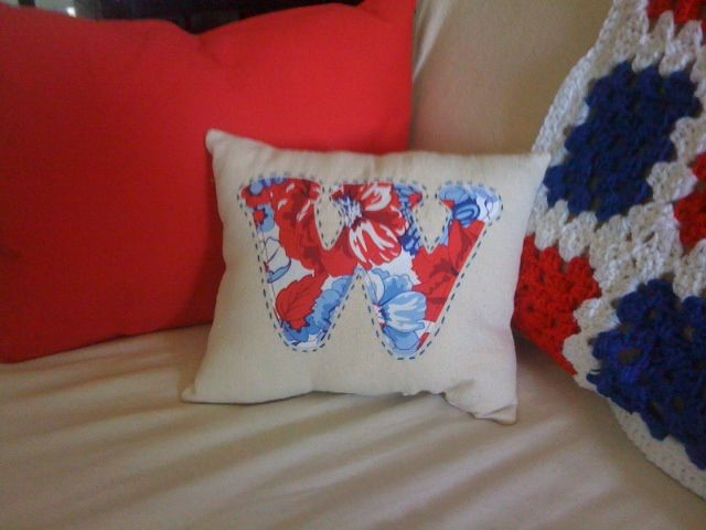 Beginner Sewing Monogrammed Pillow with letter W
