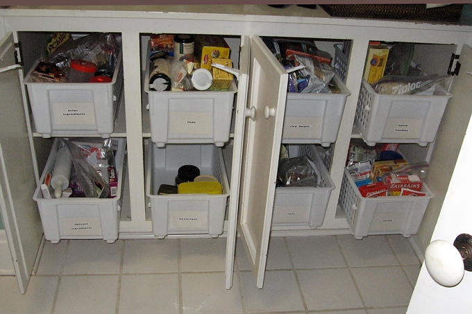 organizers inside kitchen drawers