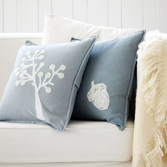 Blue and White themed pillow