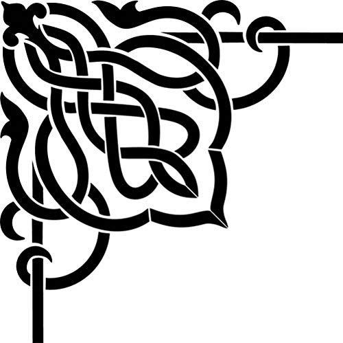 Designer Stencils Celtic Scroll Corner Wall Stencil