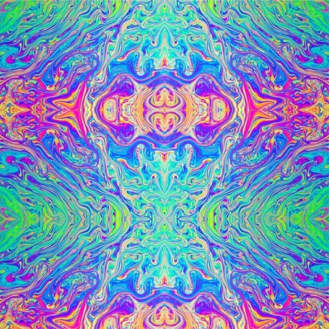 Oracal 651 Patterned Vinyl - Rainbow Swirl
