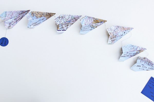 paper airplanes in white background