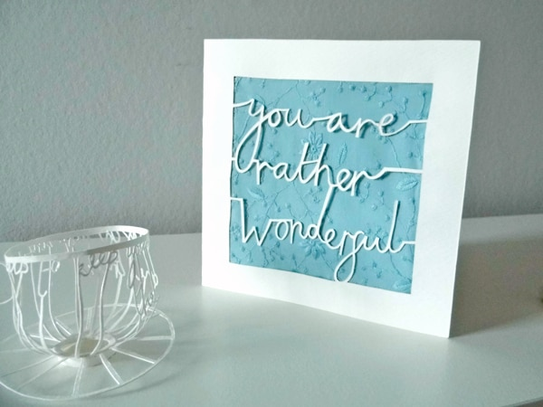 Paper Cut Calligraphic Letters