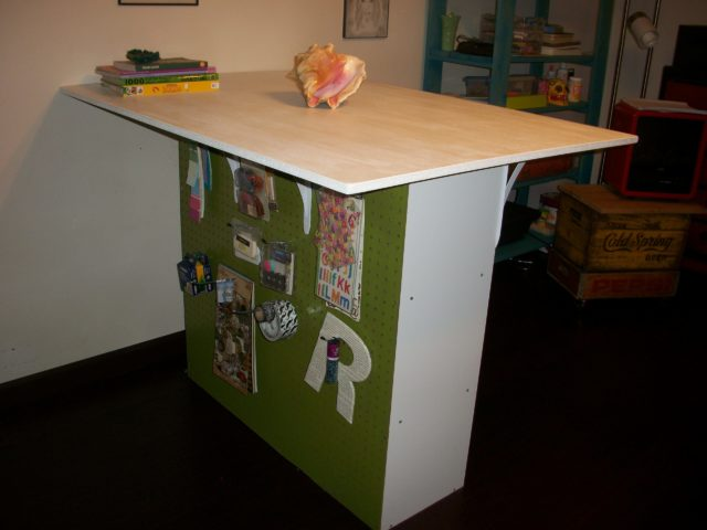 Peg Board Craft Table