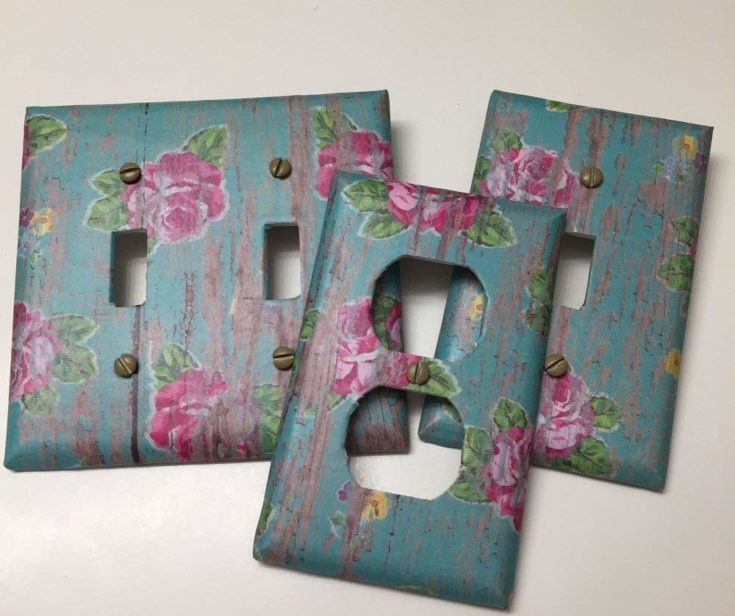 Pink Roses on Distressed Turquoise Wood