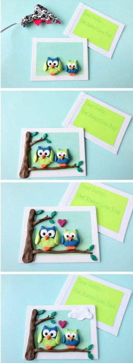Polymer Clay Characters Card