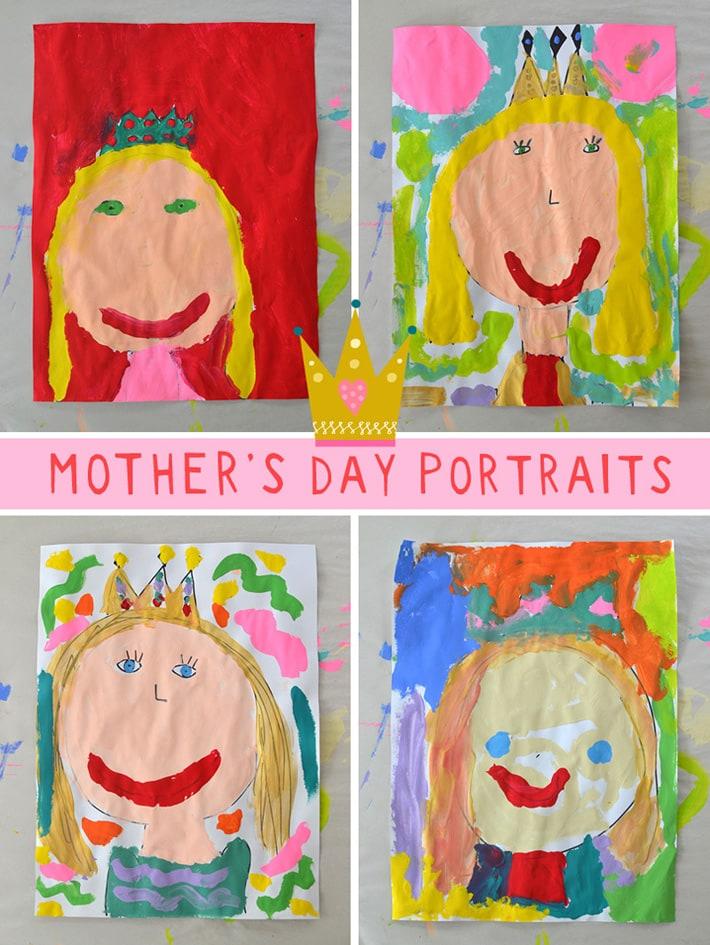 Portraits of Queen Mom - fantastic drawing idea kids will love.